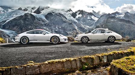 Porsche 911 R (2016) and Porsche 911 R (1967)