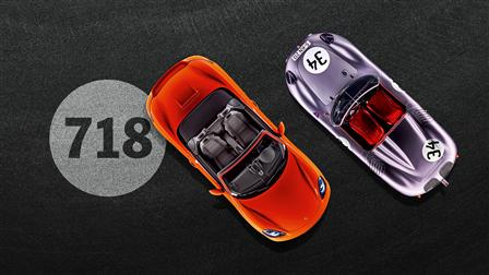 718 Boxster (2016) and 718 (1957)