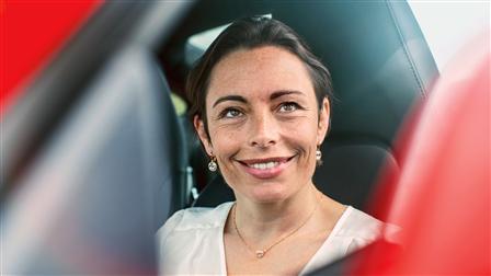 Race driver Vanina Ickx