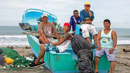 Ecuadorians at the beach