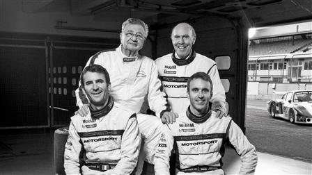 Hans Herrmann, Richard Attwood, Romain Dumas, Timo Bernhard