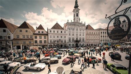 vintage car parade in Steyr