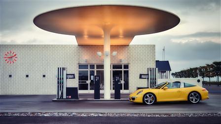 911 Targa 4S, Scovshoved gas station